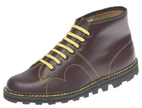 Monkey Boots By Grafters Wine Leather Upper
